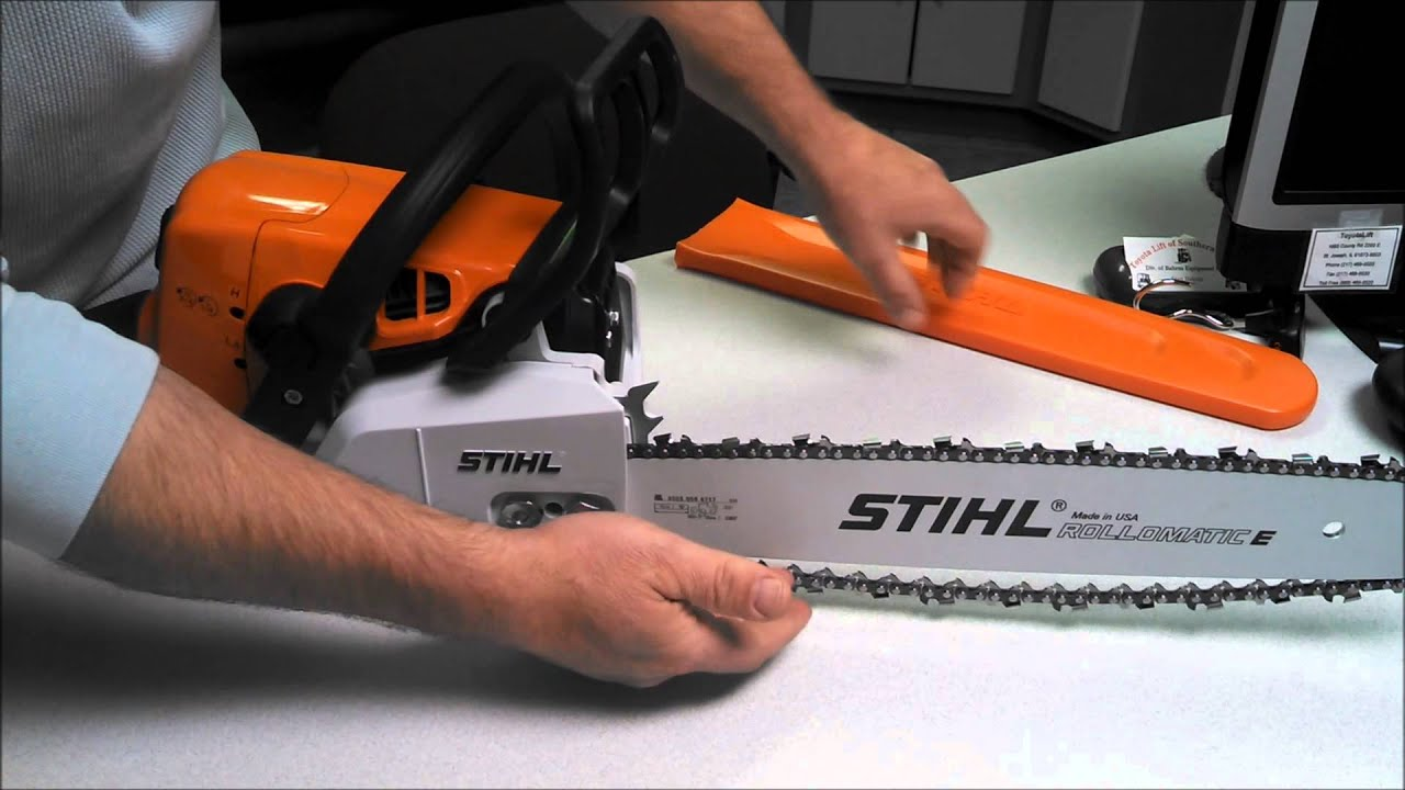 stihl ms250 chainsaw parts diagram time clock lighting how to properly adjust a chain on - youtube