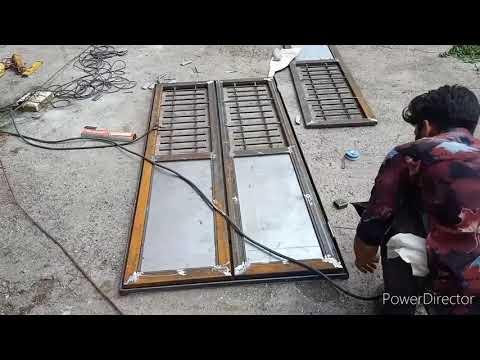 SS railing and fabrication//darwaja kese banaye and mijagre kese lagaye