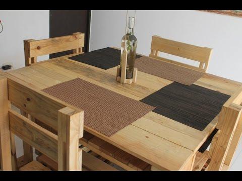 Carpinteros innovadores usan madera de las estibas para elaborar mobiliarios para el hogar youtube - Ideas de decoracion baratas ...