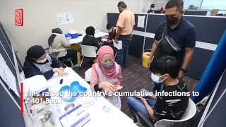 Malaysia records 5,745 new Covid 19 cases