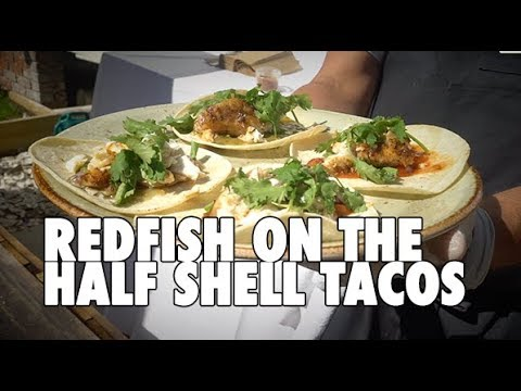 MOST DELICIOUS Redfish On The Half Shell Taco Recipe!