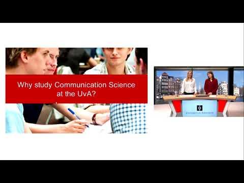 Webinar - Bachelor's in Communication Science