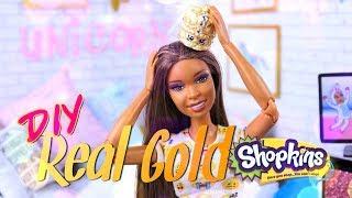 DIY - How to Make: CUSTOM Real Gold Shopkins Mini Figure