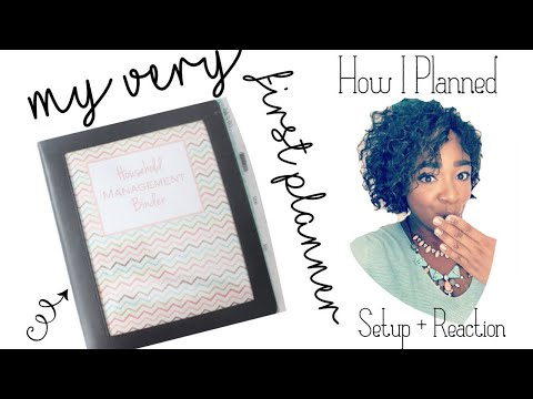 My Very First Planner!! FLIPTHROUGH + Reaction | Post -It Notes Planning | At Home With Quita