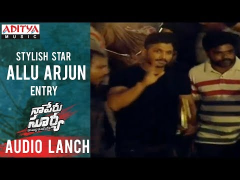 Allu Arjun Entry @ Naa Peru Surya Na Illu India Audio Launch