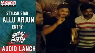 Allu Arjun Entry @ Naa Peru Surya Na Illu India Audio Launch