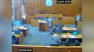 Crip Gang Member Grabs a Pen and Attacks Witness in Racketeering Trial