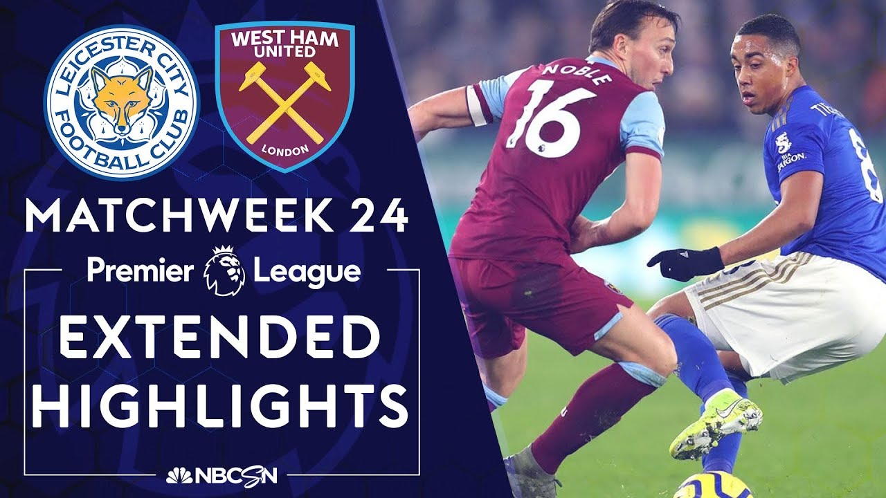 Leicester City v. West Ham | PREMIER LEAGUE HIGHLIGHTS | 1/22/2020 | NBC Sports