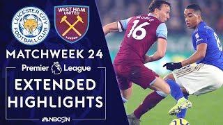 Leicester City v West Ham  PREMIER LEAGUE HIGHLIGHTS  1222020  NBC Sports