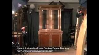 French Antique Bookcase Cabinet Empire Furniture