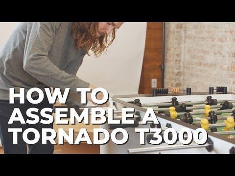 How To Set Up A Tornado T-3000 Foosball Table (Coin Operated)