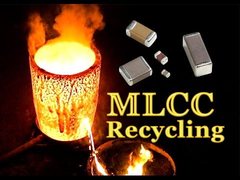 💠Palladium, Siver and Gold recovery from MLCC (Monolithic Ceramic Capacitors)💠PART-2