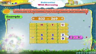 Learn Grade 3 - Maths - Subtraction With Borrowing