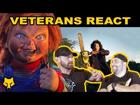 veterans-react-to-horror-movies-🧸🔪