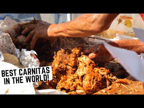 KING OF CARNITAS In MICHOACAN, MEXICO + Fruit Salad On STEROIDS |  ULTIMATE Michoacan Street Food