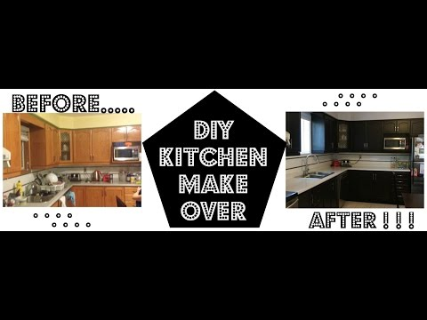 diy-staining-kitchen-cabinets-(-wood-stain)