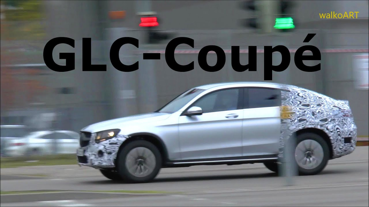 mercedes erlknig glc coup c253 2016 mercedes prototype spotted spy video youtube