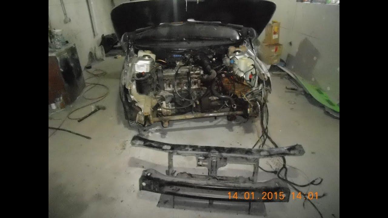 Замена телевизора на ваз 2112. .кузовной ремонт.замена крыла и капота.