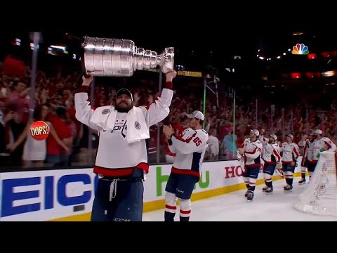 Woman Flashes Players Following Washington Capitals' Stanley Cup Win