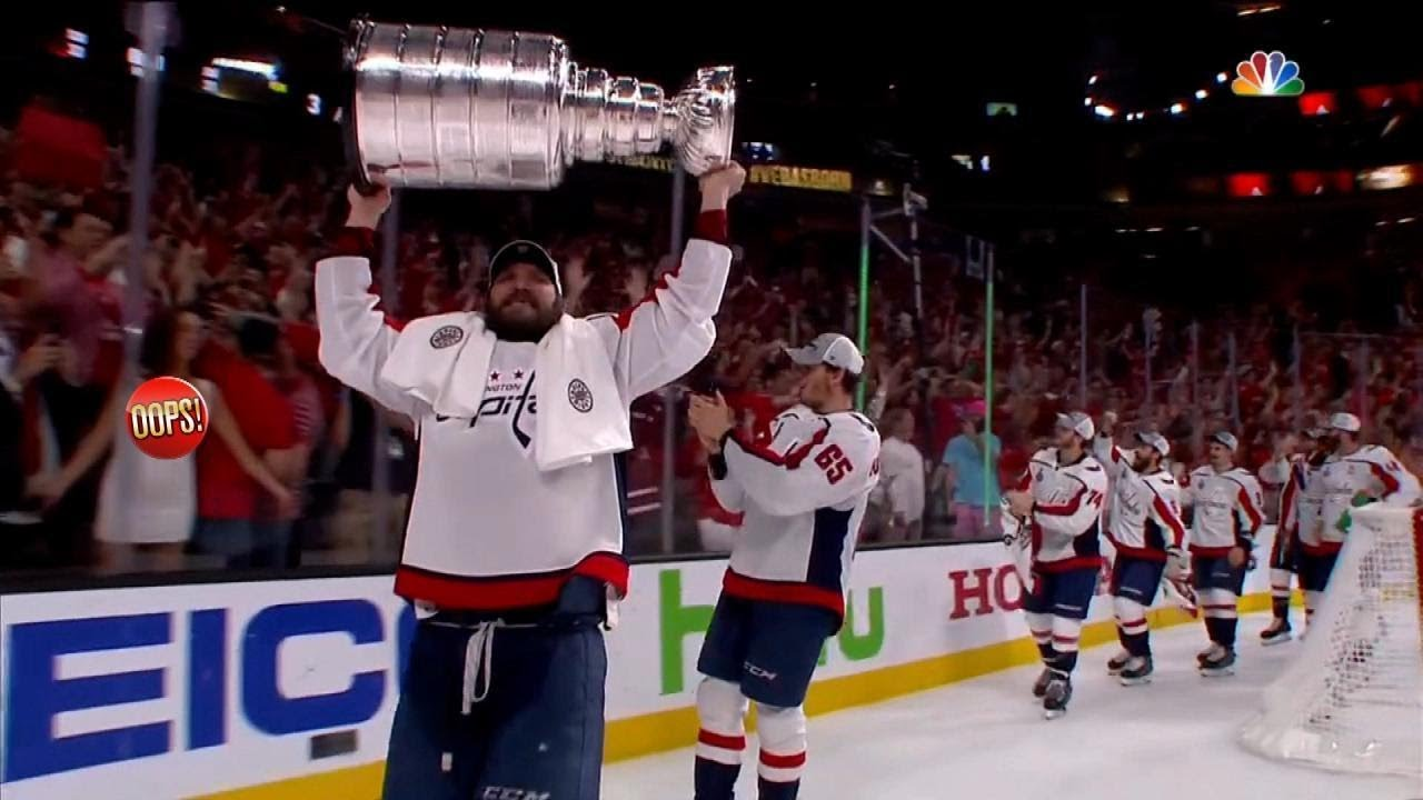 Woman Flashes Players Following Washington Capitals  Stanley Cup Win ... 4c6dbb58d75