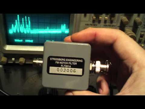 Testing of a Stridsberg Engineering FLT201A FM Notch Filter via Tek 1401 SpecAn
