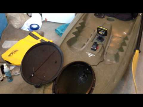 Mounting a fish finder in a kayak - tips/guide