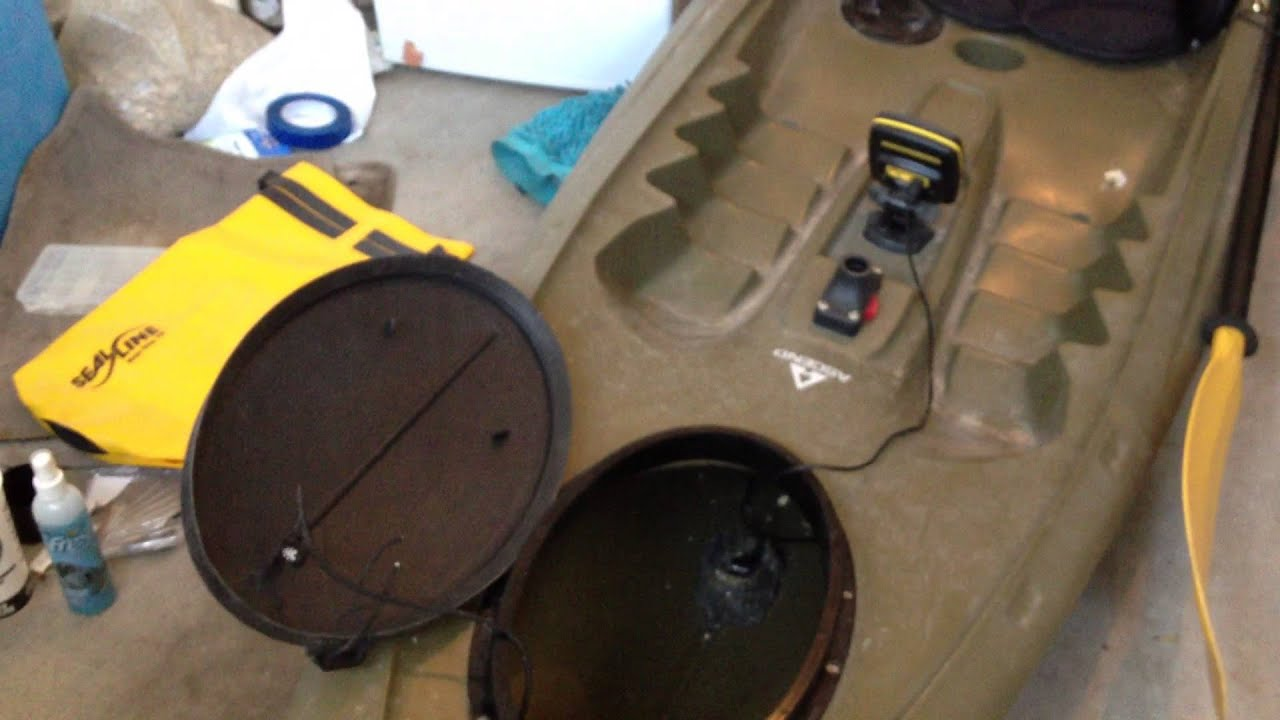 mounting a fish finder in a kayak - tips/guide - youtube, Fish Finder