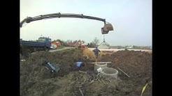Einbau von Erdflächenkollektoren für eine Wärmepumpe