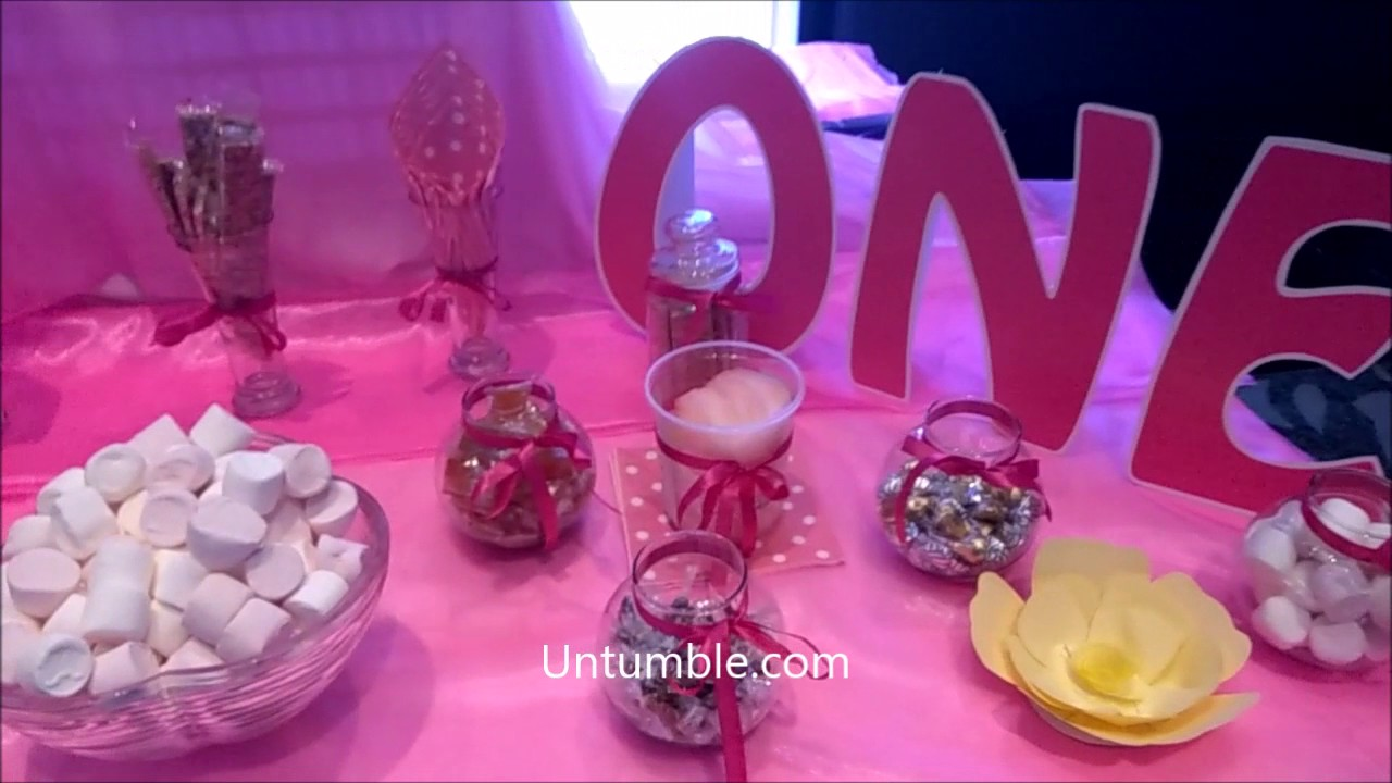Untumble\'s Enchanted Garden birthday decoration - YouTube