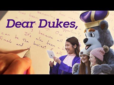 Dear Dukes: A Holiday Message To JMU Students