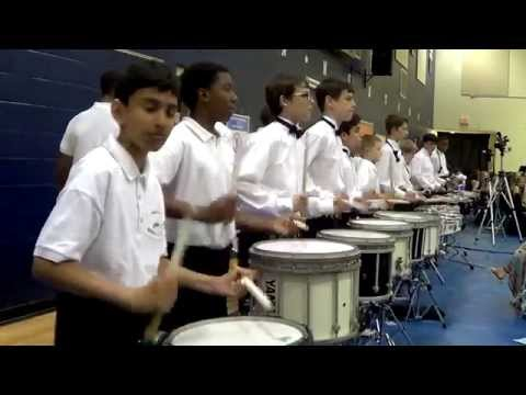 """Mauldin Middle School Drumline, Advanced Band and Wind Ensemble - """"Finale"""" 2014"""