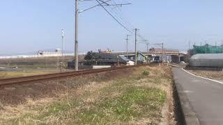 JR四国 2000系TSE.量産.宇和海 キハ54 7000系電車 走行シーン
