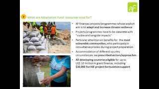 An overview of the Adaptation Fund - powerpoint for conference, June 2014