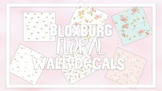 Bloxburg Wallpaper Decal ID Codes [Floral Aesthetic]