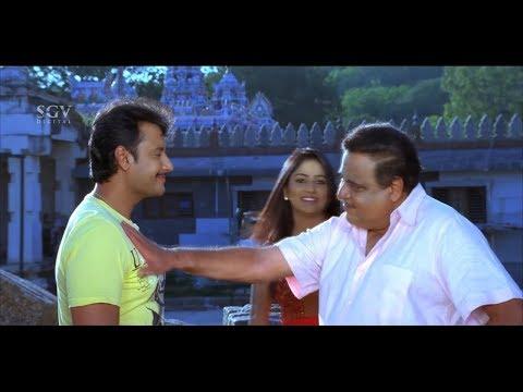 ಏನ್ ಹಂಗ್ ನೋಡತಾ ಇದಿರಾ, ಸಿಂಹ ಅಲ್ಲಿ ಇದೆ ನೋಡಿ..! Darshan | Ambarish Best Scene | Darshan Kannada Movies