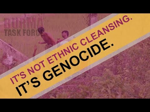 IT'S NOT ETHNIC CLEANSING. IT'S GENOCIDE.