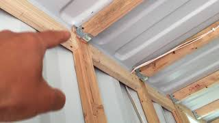 Shipping Container House Framing