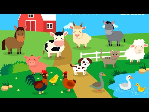 Learn Farm animals for kids   Farm Animals Names & Sounds