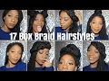 17 Box Braid Hairstyles || Naomi Amber