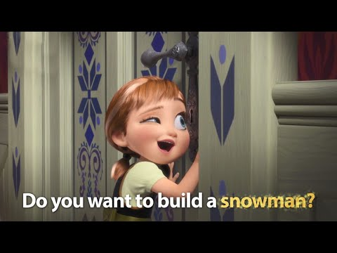 DISNEY SING-ALONGS  Do You Want To Build A Snowman? Frozen Lyric    Disney UK