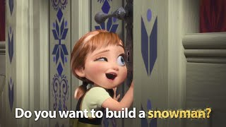 DISNEY SING-ALONGS | Do You Want To Build A Snowman? Frozen Lyric ! |  Disney UK