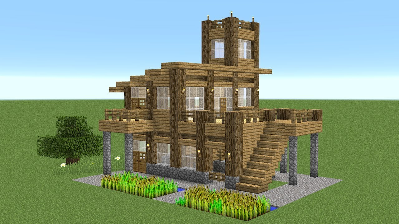 Minecraft - How To Build A Large Starter House