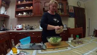 Овощи на гарнир, запеченные в духовке