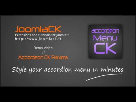 Style your Joomla! accordion menu easily without coding and 20+ themes