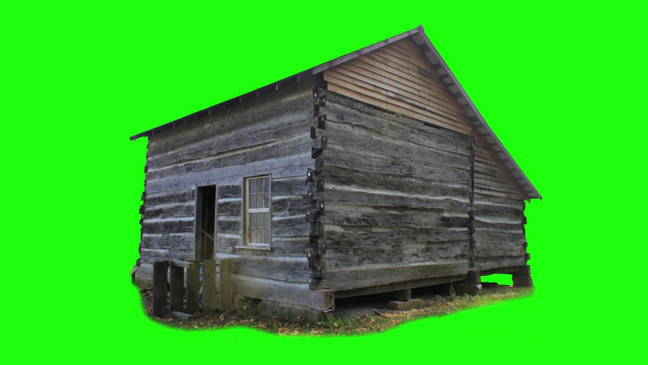 Green Screen Footage Pioneer Cabin  Free To Use Free Stock Footage