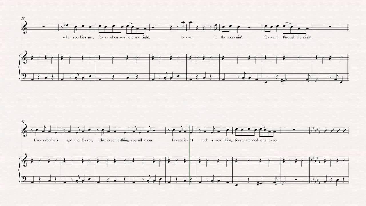 Ukulele Fever Peggy Lee Sheet Music Chords Vocals Youtube