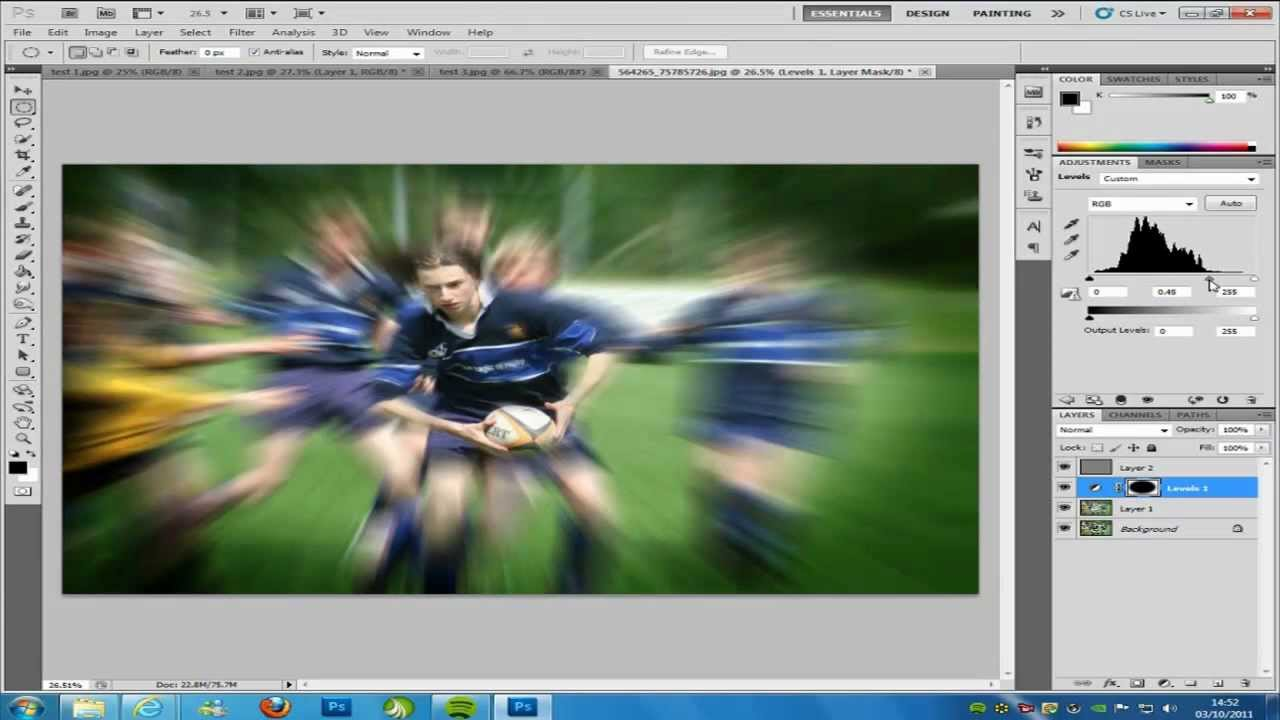 Photoshop cs5 zoom burst blur effect tutorial youtube ccuart Image collections