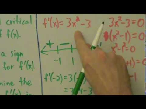 Calculus I - First Derivative Test - How to Use it and Example 1 of Finding Local (Relative) Extrema
