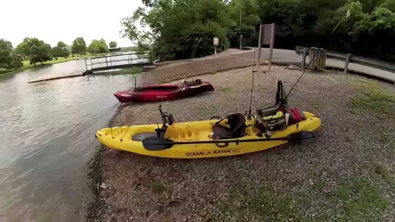My kayak fishing setup kayak fishing layout youtube for Fishing canoe setup