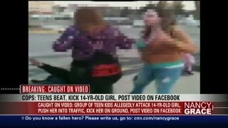 Brutal all-girl teen beating video posted on Facebook